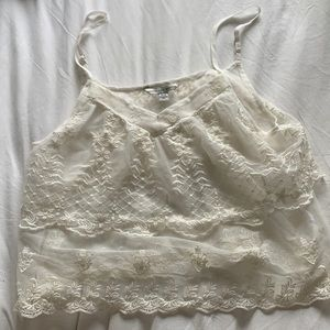 Sheer lace American eagle top